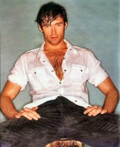 Hugh Jackman...all wet.