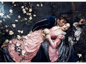 Prince Charming and his Sleeping Beauty.  All together now: awwwwwwww!