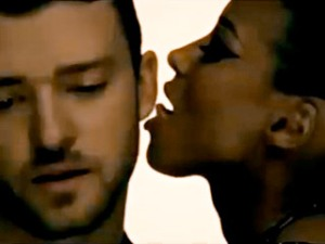 A screencap from JT and Ciara's scandalous new video